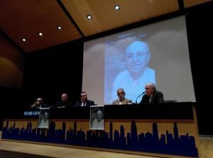 Homenaje a Juan Portolés. Mesa presidencial. Foto GUNILLA NORÉN.