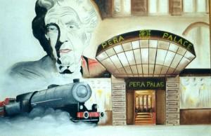 ESTAMBUL.- hotel Pera Palas.- cuadro sobre el Orient Express.- 14-11-2000 E. Gonzalo